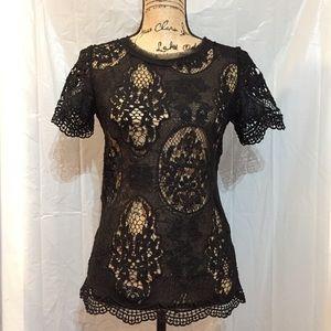 Beautiful black lace shirt.